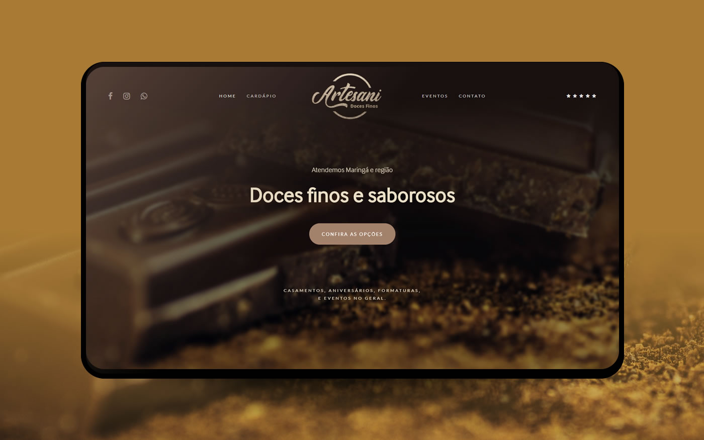 Empresa de Sites - Artesani Doces Finos