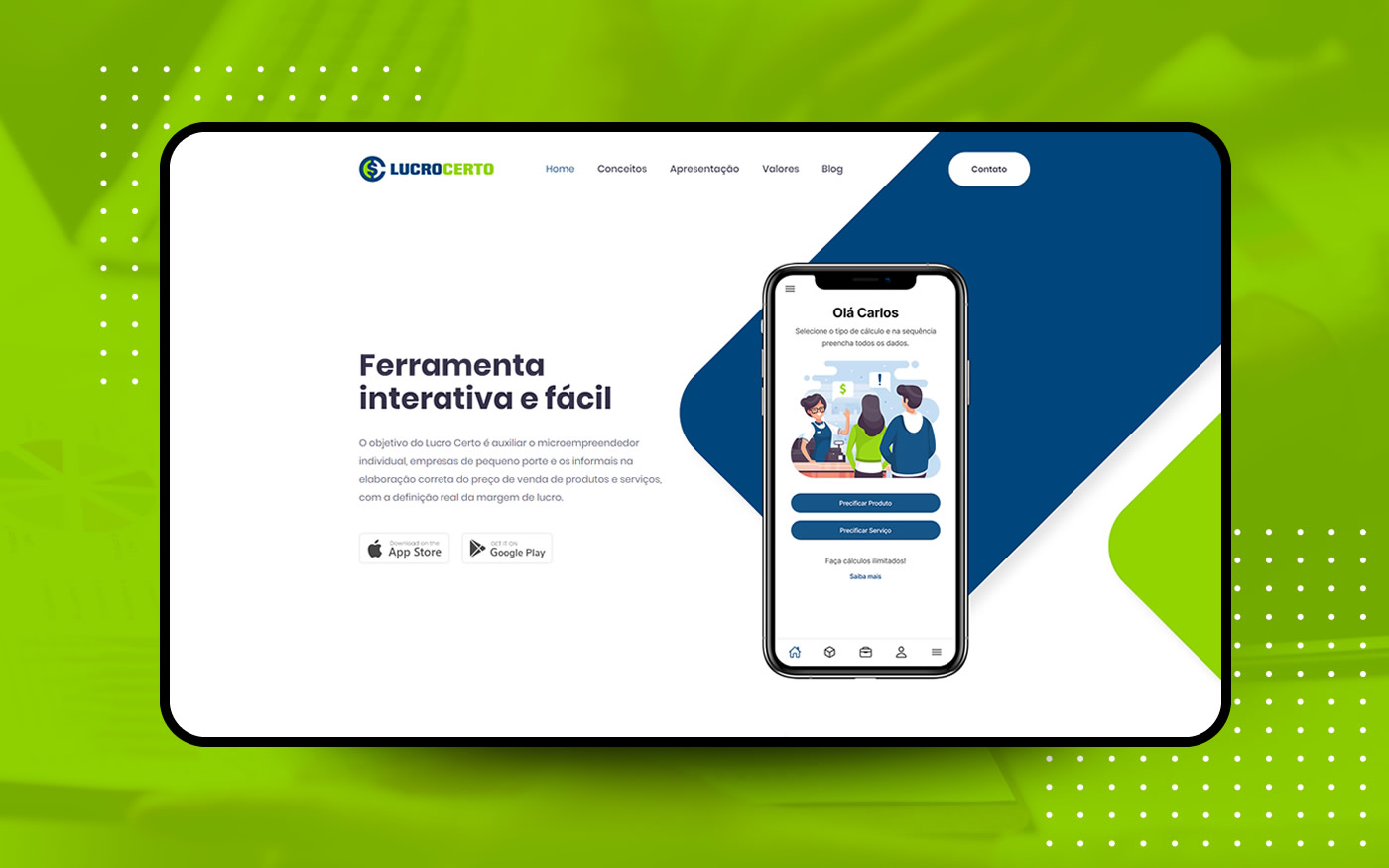 Empresa de Sites - Aplicativo Lucro Certo