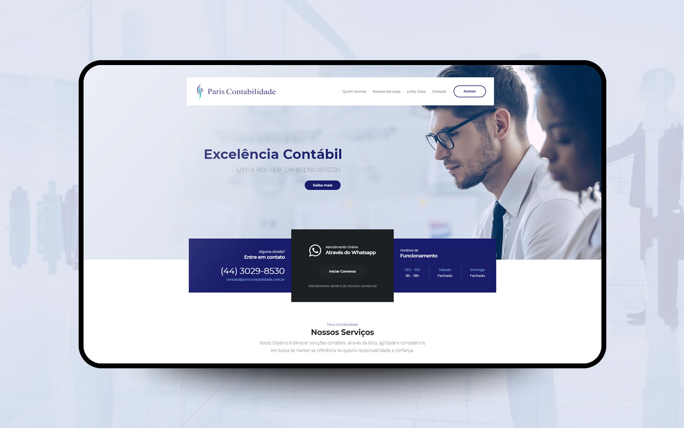 Empresa de Sites - Paris Contabilidade